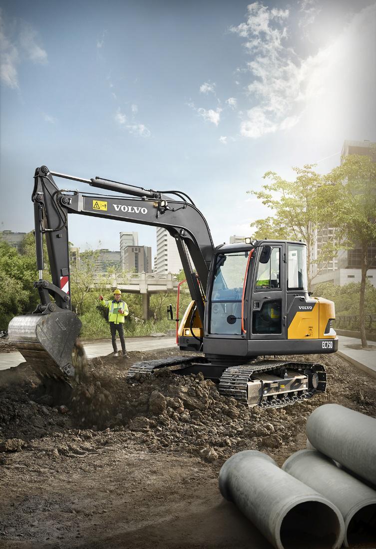 沃尔沃面向中国市场推出EC75D挖掘机