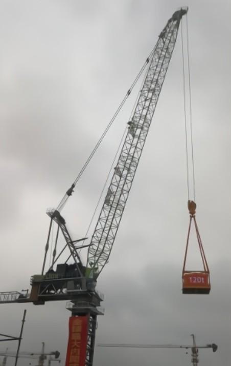 全球最大吨位内爬式动臂塔机下线 最大起重120吨刷新世界纪录