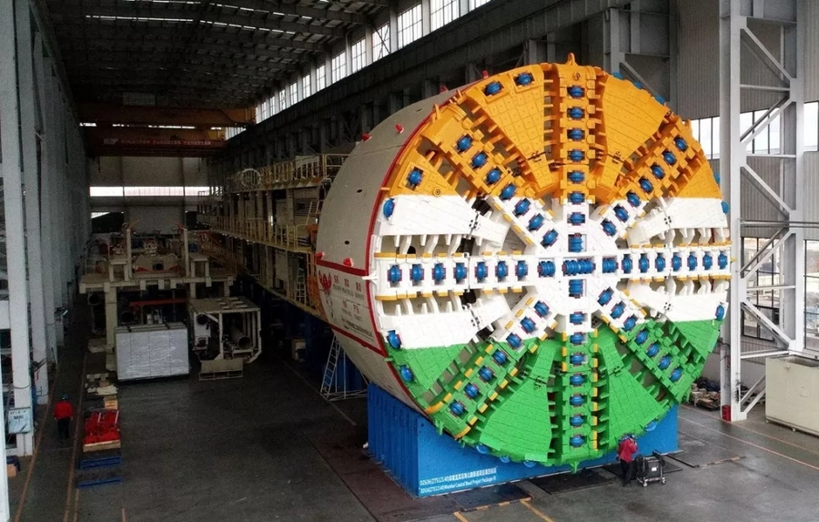 开挂啦!三台连发,印度最大直径盾构机顺利下线