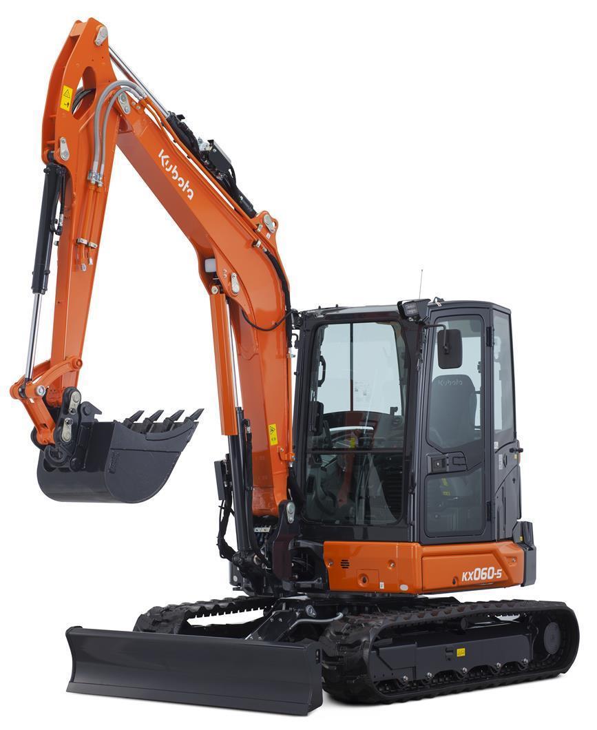 久保田推出三款新型小型挖掘机
