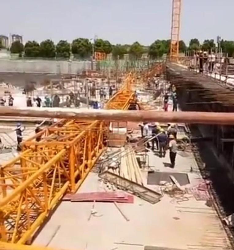 安徽宣城一工地發生塔吊倒塌事故,1人死亡