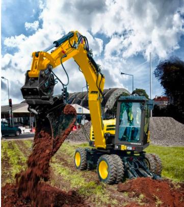 【新品】洋馬推出B75W輪式挖掘機