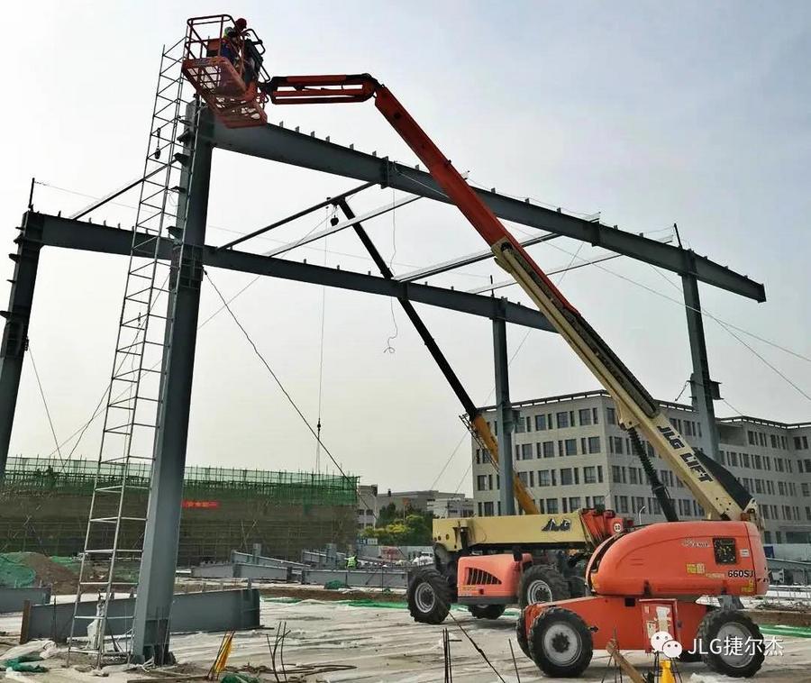 捷爾杰天津二期工廠建設進展超預期,高空作業平臺顯神通