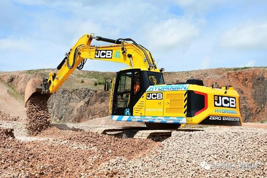 引領創新,JCB推出行業首臺氫燃料動力液壓挖掘機