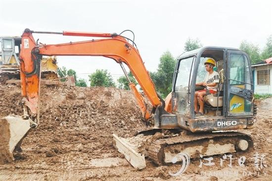 江門市將挖掘機技能培訓導入省際技能扶貧協作