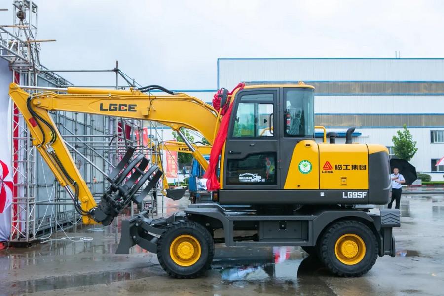 臨工建機輪挖家族又添猛將!LG95F輪式挖掘機新品上市