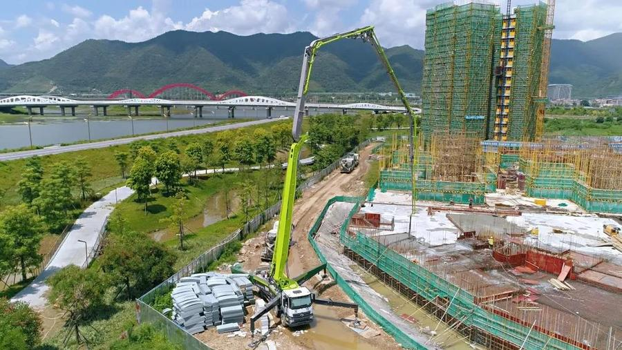 實力熱銷!中聯重科四橋59米泵車助陣粵港澳大灣區建設
