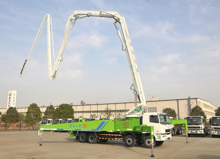 華菱星馬56米長臂架式泵車項目通過驗收