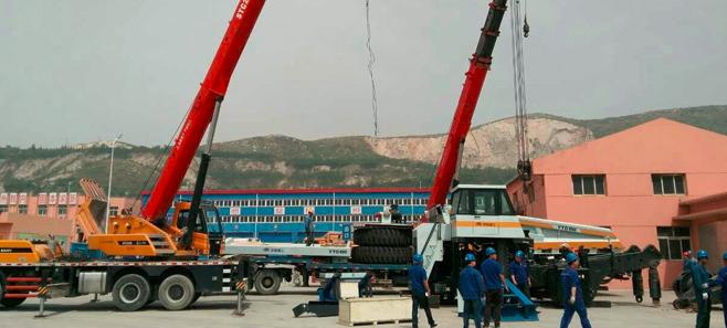 宇通重工YTG100在唐山成功進行作業