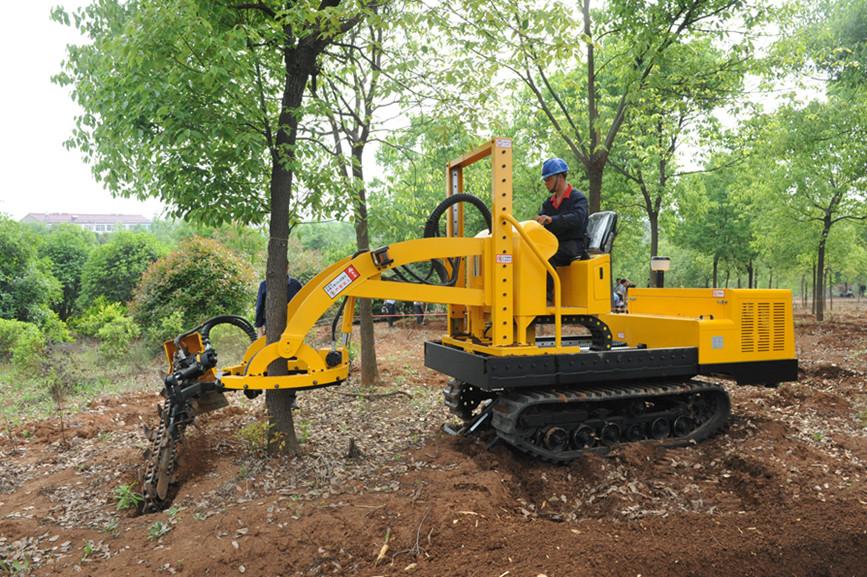 三普牌履帶挖樹機 嶄露頭角 大獲青睞