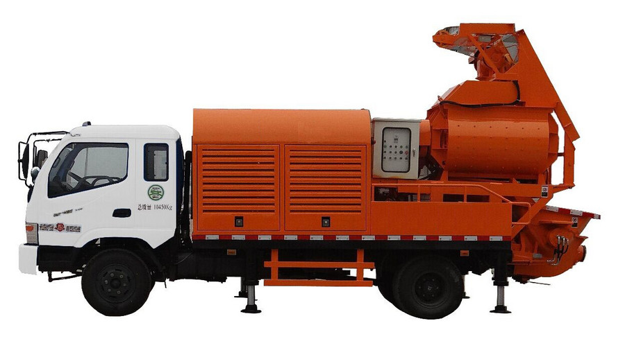 车载式搅拌拖泵——农村建房福利