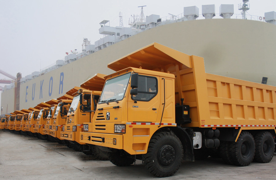 徐工大吨位自卸车实现海外市场新突破