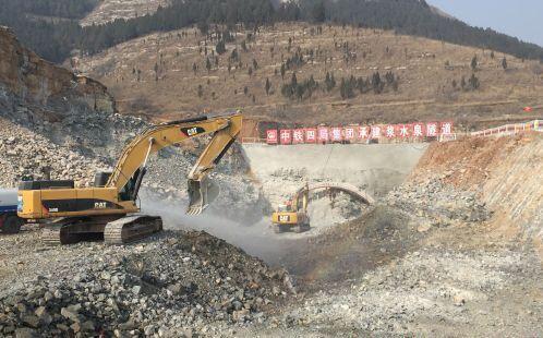 """挖掘机齐忙碌 """"山东第一隧道""""开建"""