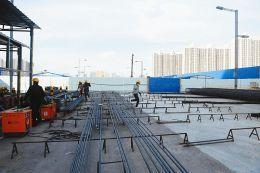太原地鐵2號線 挖掘機到位已做打樁準備
