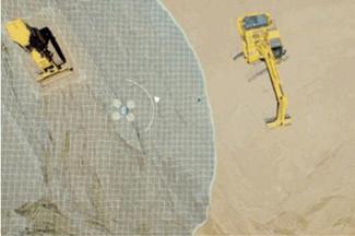 應對人工短缺 日本無人機指揮小松挖掘機