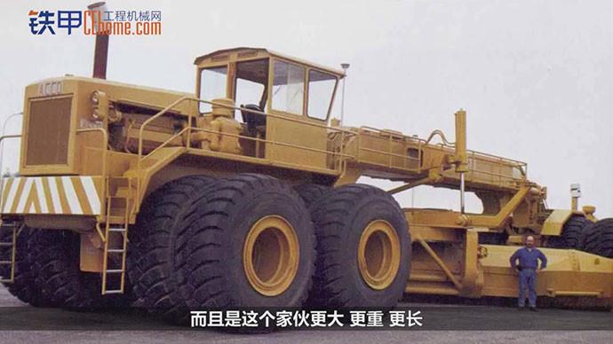 【机械公元】平地机能有多大?自重180吨一次铲平10米宽!