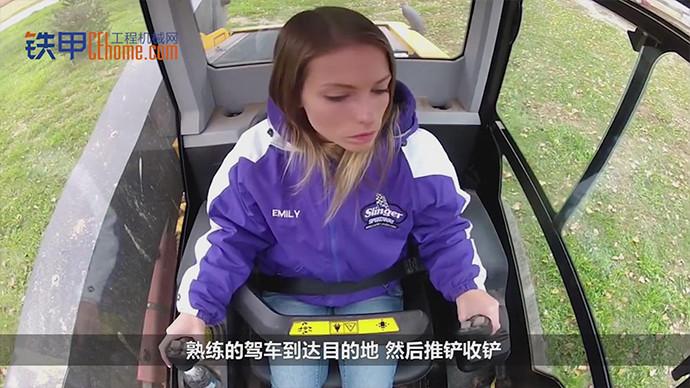 【機械公元】挖機司機都是男的?來看看外國美女神操作!