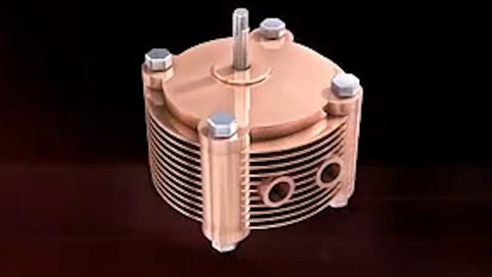 【眼界】微型齿轮发动机,小小体积4个气缸