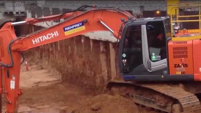 【眼界】溜不溜你說了算 看日立挖掘機施工現場