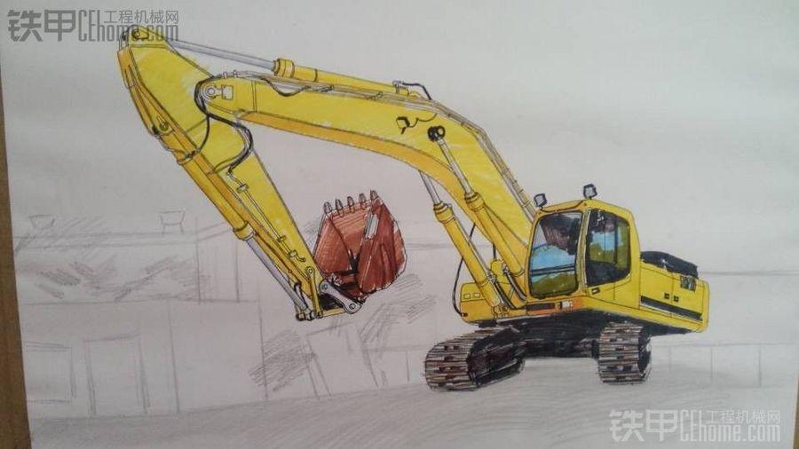 经验之谈  甲友手绘挖掘机操作示意图