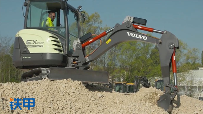 【眼界】沃尔沃电动遥控挖掘机EX2,零油耗更省更环保