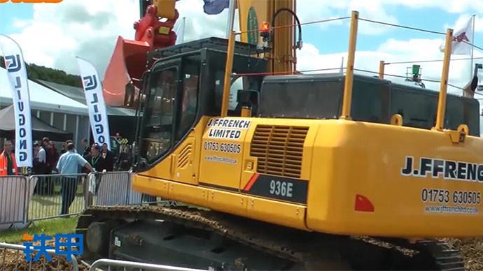 【眼界】在国外施工的中国挖掘机,柳工936E
