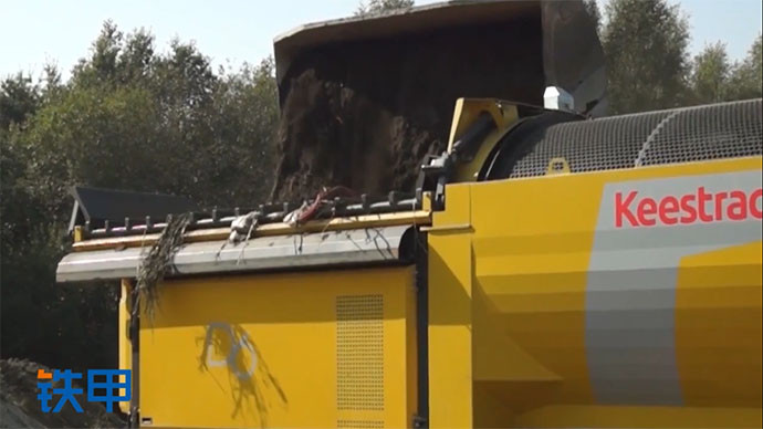【眼界】挖机装载机最好拍档!凯斯特移动滚筒筛分机