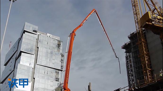 【眼界】来看看在市中心施工的混凝土吊杆泵