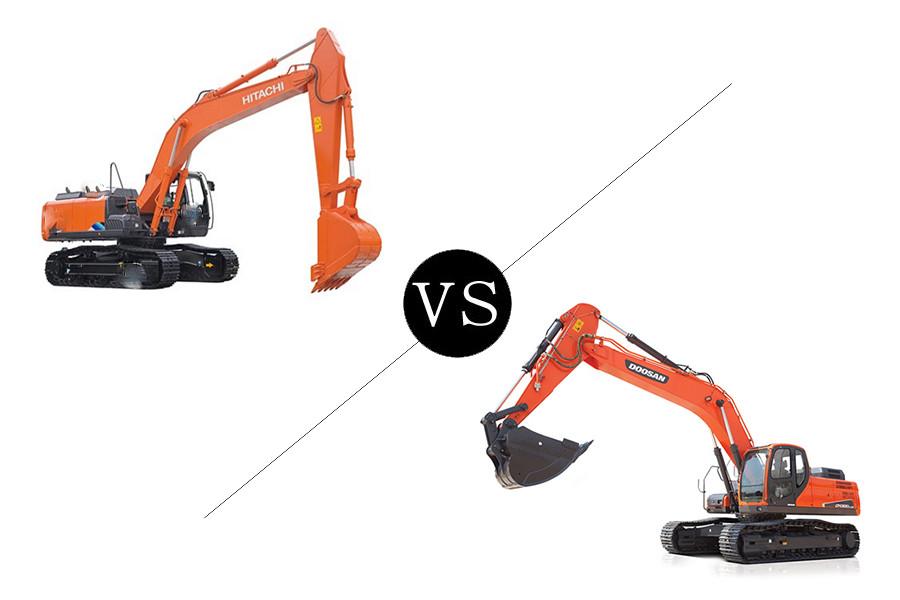 30吨级挖机比拼,日立ZX300-5A对比斗山DX300LC-9C