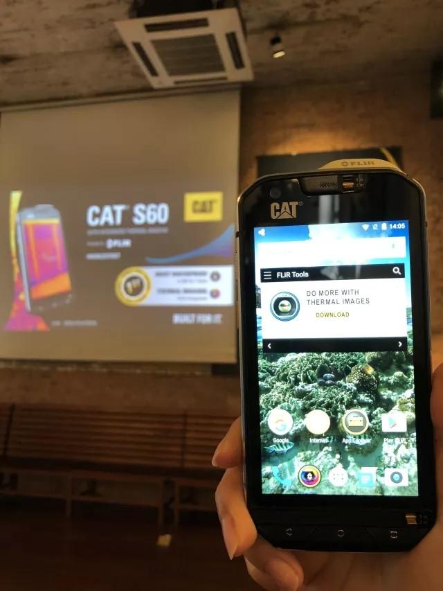 全球首款熱成像智能手機Cat? S60正式登陸中國