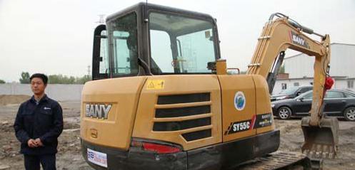 三一SY55C挖掘机首次保养 仅需更换机油