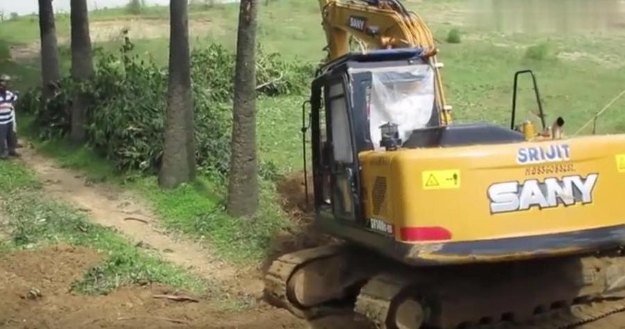 出口的三一挖掘机,这车是挺有劲,就是感觉司机不怎么会干活