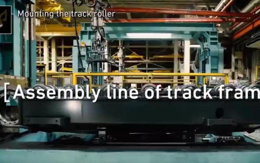 日本小松挖掘机生产组装全过程