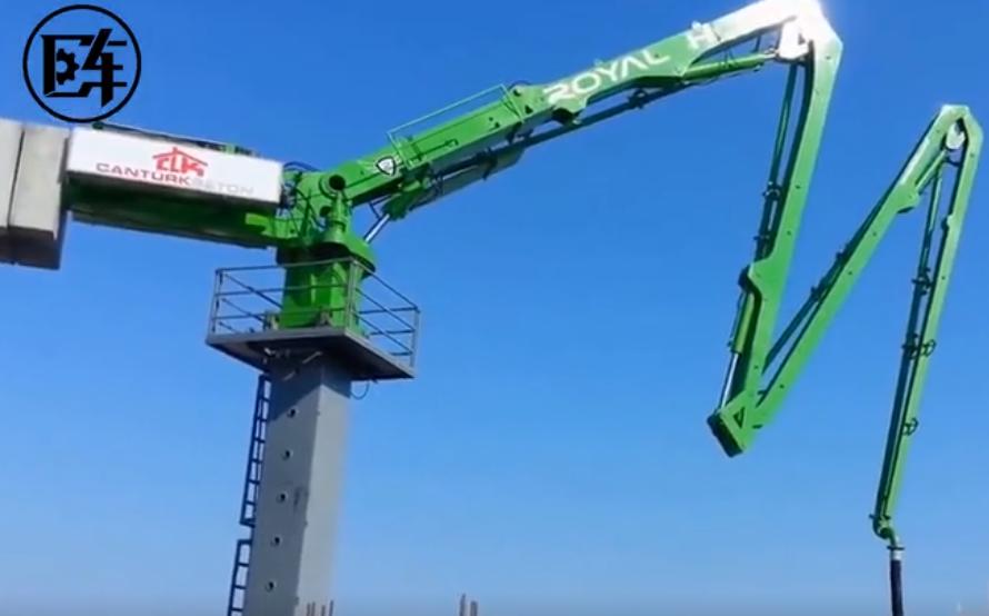 全世界最高的液壓混凝土澆筑機,上百米高樓上作業