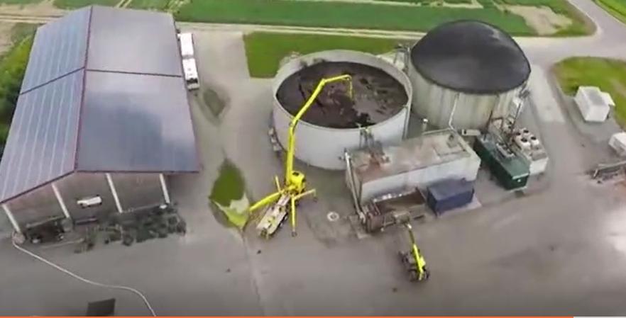 直徑50米的超級化糞池,開工程車攪拌真酸爽!