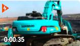 工地實拍:偉立機械山河智能礦山工地挖掘機開挖渠道