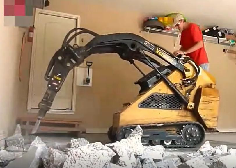 混凝土破碎機到底有多強?20公分厚的水泥可以扛住幾分鐘?