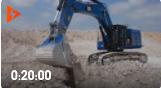 卡特彼勒374F挖掘機,藍色的卡特很少見,你見過嗎?