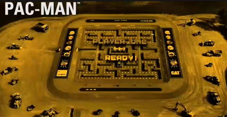服了,用一堆工程机械玩吃豆子游戏,真是服了!