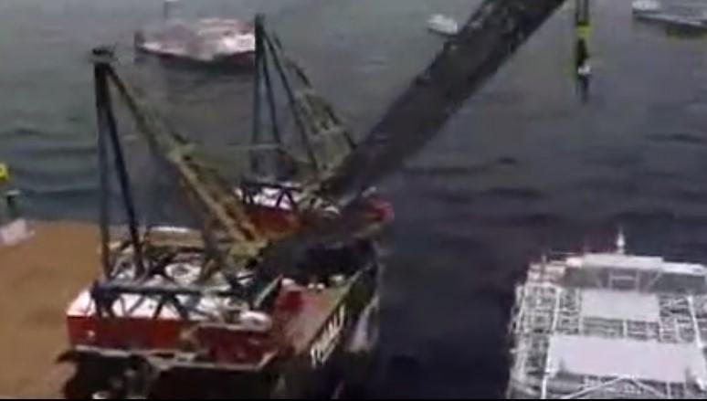 英国石油公司安装大型海洋钻井平台全过程!
