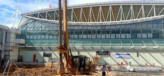 玉柴樁工YCR60D參建三亞機場改造工程