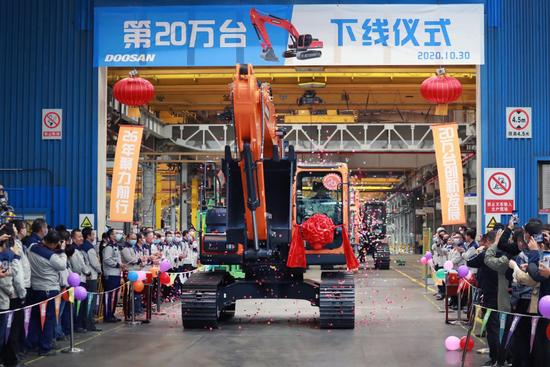 斗山工程機械挖掘機銷量在中國創下10年新高
