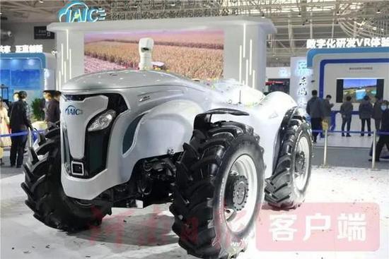 """速速围观 拖拉机也玩无人驾驶  中国一拖智牛""""出圈"""""""