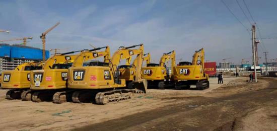 Cat?(卡特)挖掘機助力雄安新區容東片區開工建設