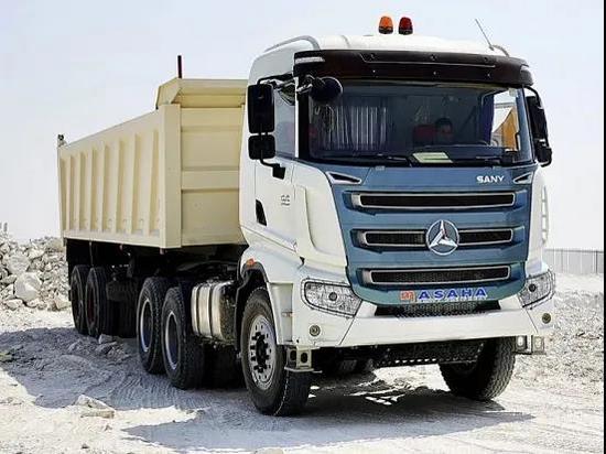 三一重卡首批出口牽引車在科威特
