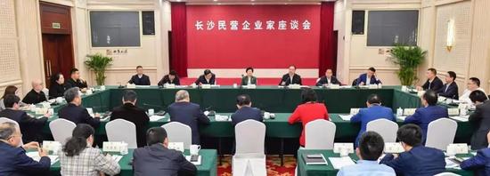 何清华参加长沙民营企业家座谈会
