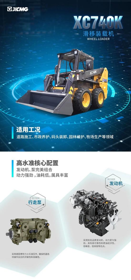 【裝載之王·鏟業好車】靈活多能,徐工XC740K滑移裝載機