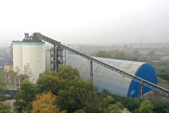 【施工案例】河南新鄉中聯重科圓管帶式輸送機