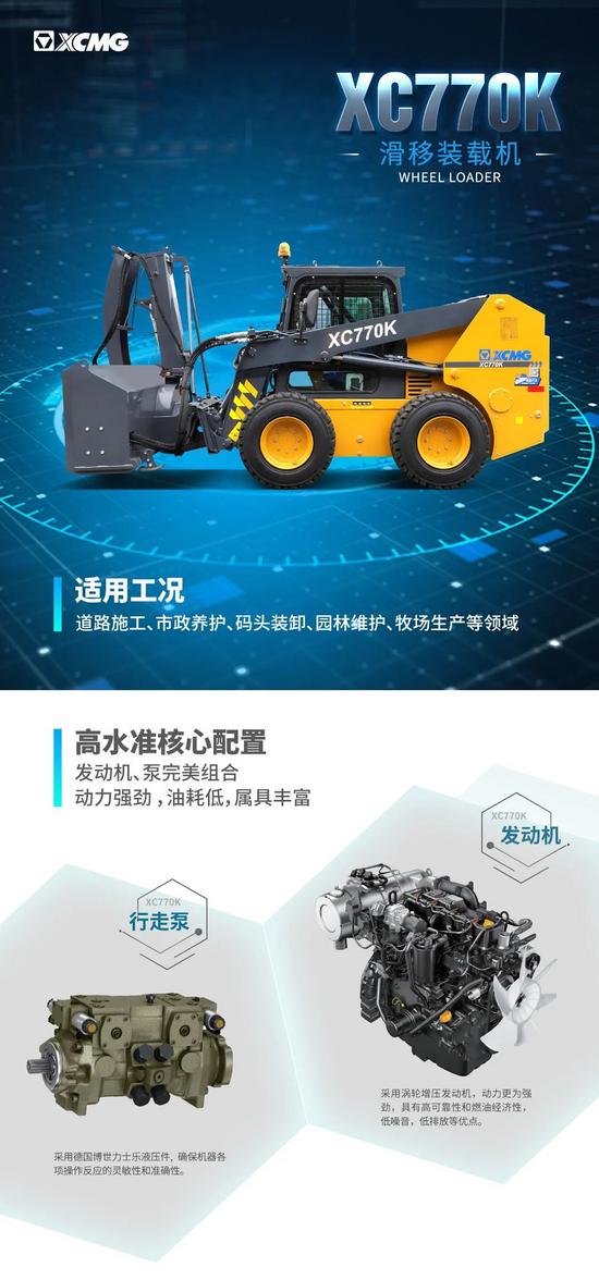 【装载之王·铲业好车】硬核旗舰,徐工XC770K滑移装载机