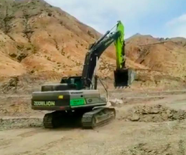 施工案例   能干能賺,ZE375EK-10挑戰高海拔土石方作業!